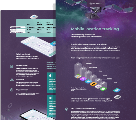 Infographic mobile location tracking